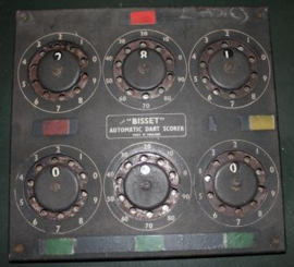 Oud Dart score bord uit Engelse pub