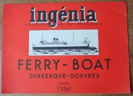 Oude bouwplaten van een Ferry Boat
