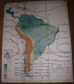 Landkaart South America Climate 1 may - oct 31