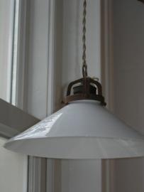 Diverse oude glazen lampekapjes
