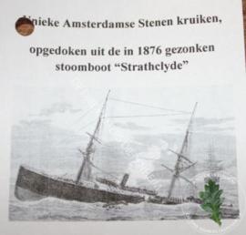 Oude Amsterdamse kruiken in 2017 opgedoken uit de 1876 gezonken stoomboot
