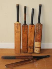 Diverse houten Cricket bat's