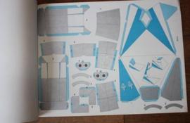 """papieren bouwplaten van vliegtuig """"De concorde"""""""