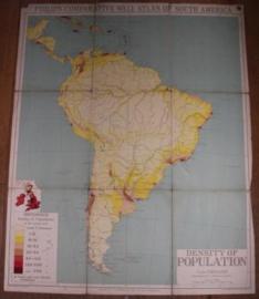 "Landkaart Zuid America ""Population"""