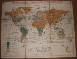 """Landkaart Wereld """"Climate"""""""