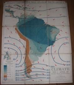 "Landkaart Zuid America ""Climate"""