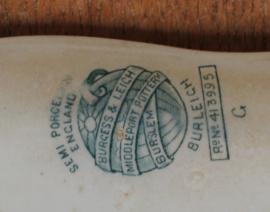 Set van twee Rechthoekige Engelse schalen; kleinste maat is verkocht