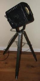 Vintage Theater lamp op metalen driepoot