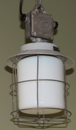 Kleine Industiele Draadglas lamp