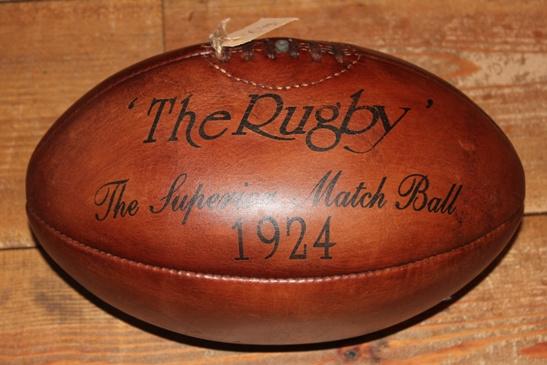 Lederen rugby bal