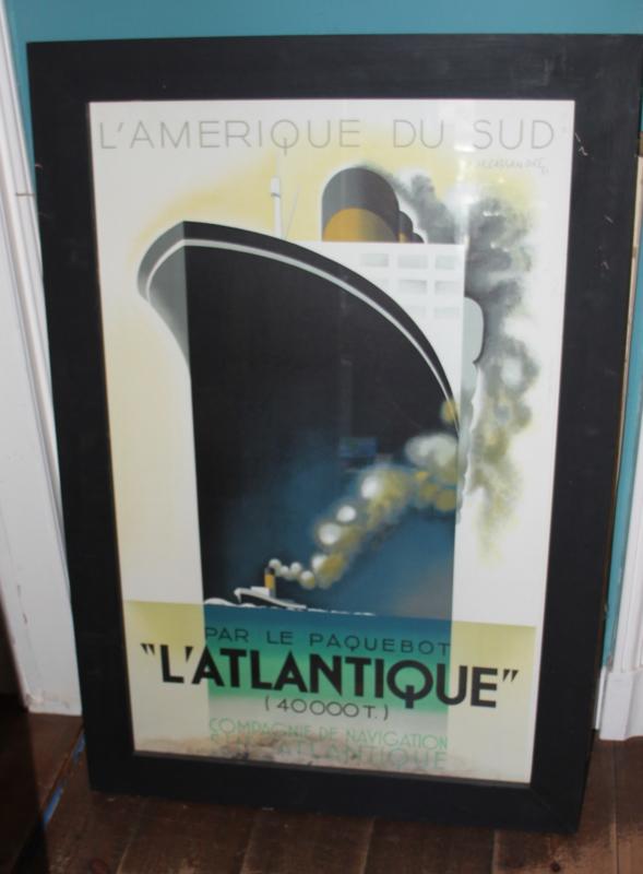Ingelijst Affiches A.M Cassandre- L'Amerique du Sud