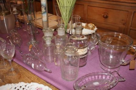 Diverse oude apothekers flesjes