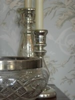 Engelse saladeschalen met zilveren of verzilverde rand