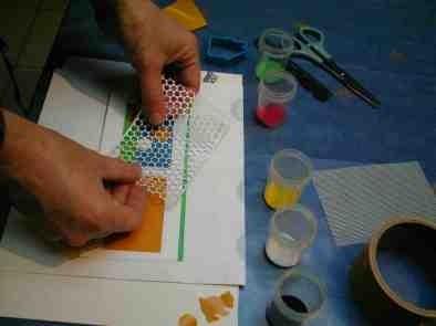 zandschildersfolie aanbrengen