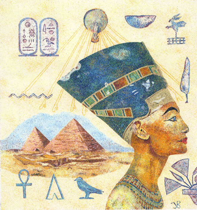 zandschildering Nefertite