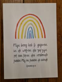 Poster A4 'Mijn boog heb Ik gegeven'