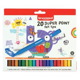 Bruynzeel Kids Super Point Viltstiften 20 st.