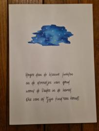 Poster A4 'Hoger dan de blauwe luchten'