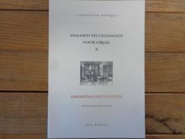 Jong, Margaretha Christina de - Psalmen en gezangen voor orgel (deel 10)