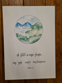 Poster A4 'De HEERE is mijn Herder'