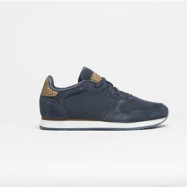 Woden sneakers- mesh blauw
