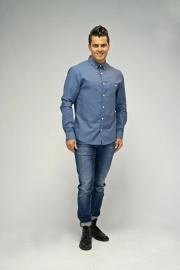 Kronstadt linnen shirt - grijs blauw