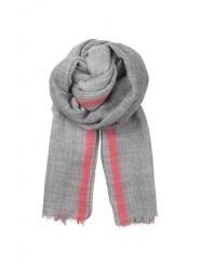 Beck Sondergaard wollen sjaal - grijs/roze