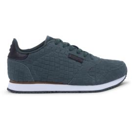Woden sneaker croco - groen
