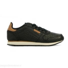 Woden sneakers croco zwart