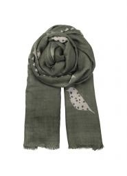 Beck Sondergaard sjaal - groen/taupe