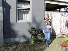 Beck Sondergaard gestreepte sjaal groen