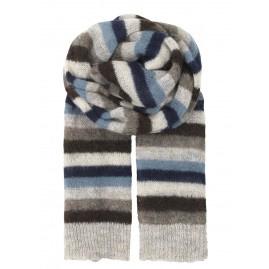Beck Sondergaard gestreepte sjaal blauw