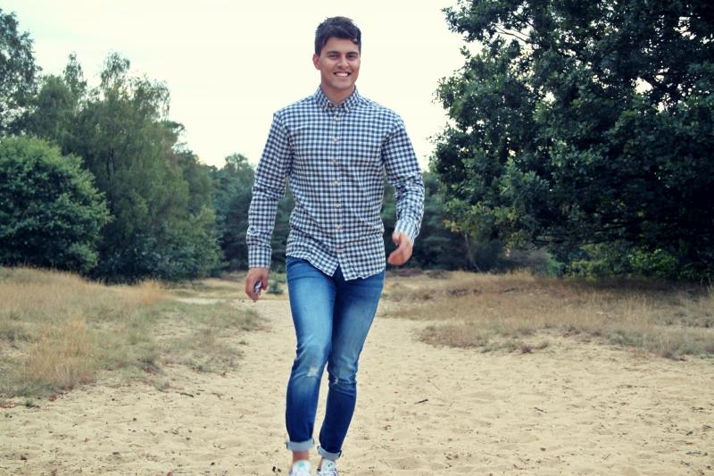 Kronstadt Dean blouse geblokt klein - blauw