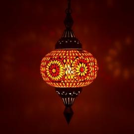 oosterse hanglamp mozaïek - pompoen