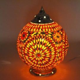 oosterse tafellamp mozaïek - diameter 25 cm.