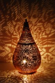 Oriëntaalse tafellamp filigrain style druppel - vintage koper