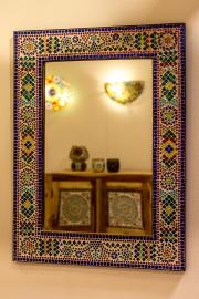 spiegel multi colour met mozaïek frame
