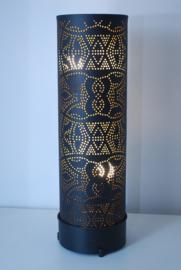 oosterse vloerlamp filigrain 60 cm - vintage zwart/ goud