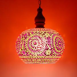 Oosterse hanglamp met open onderkant - Ø 36 cm.