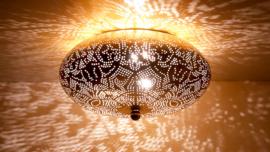 Oosterse plafonnière  filigrain 38 cm - vintage goud