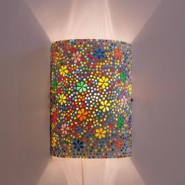 oosterse wandlamp mozaïek - cilinder model