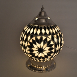 oosterse tafellamp mozaïek - diameter 15 cm-B&W-TD