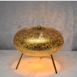 Oriëntaalse tafellamp filigrain style ufo - vintage gold gold