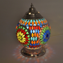 oosterse tafellamp mozaïek - diameter 15 cm-MC-TD