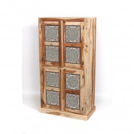 oosterse  hoge kast met mozaïek panelen multi