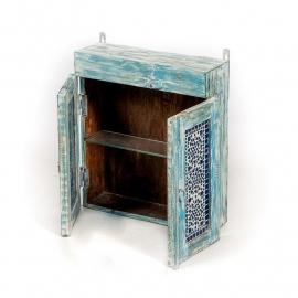 oosters badkamerkastje met mozaïek panelen blauw