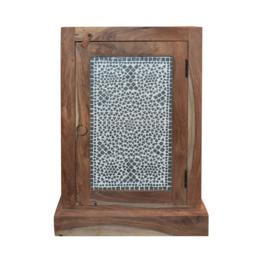 oosters nachtkastje met mozaïek panelen transparant