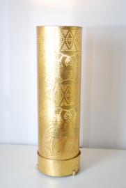 Oosterse vloerlamp filigrain 60 cm - vintage goud