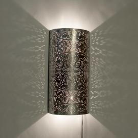 Oosterse filigrain wandlamp - half cilinder