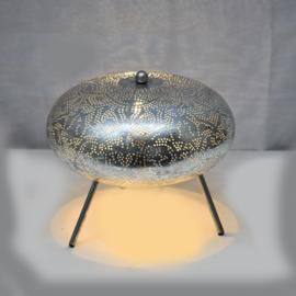Oriëntaalse tafellamp filigrain style ufo - vintage silver silver